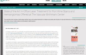 screenshot of the web article